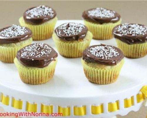 Banana Cupcakes with Nutella Mascarpone Frosting